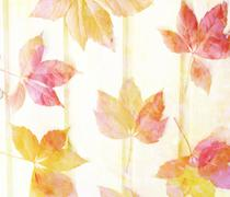 scenic abstract background with leaves made with color filters, watercolor co - stock illustration