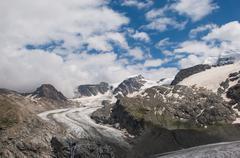 Alpine glacier Stock Photos