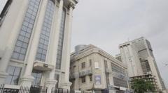 Marina Lagos Skyline Stock Footage
