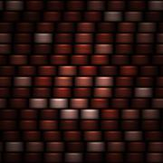 abstract dark red horizontal wide bands background - stock illustration