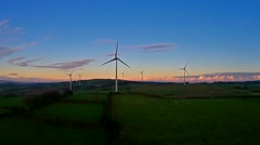 Wind turbines- Windmills -Wind Energy - stock footage