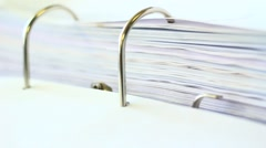 Binder mechanism Stock Footage