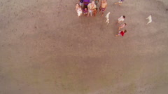 People on the beach Stock Footage