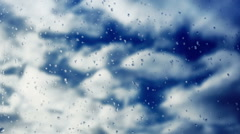 Clouds behind the window -  HD Stock Footage