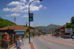Downtown Gatlinburg, TN - stock footage