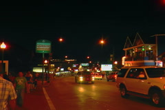 Gatlinburg, downtown after dark - stock footage
