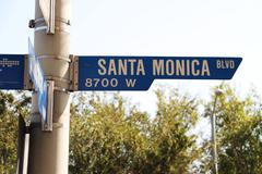 Stock Photo of Santa Monica Blvd Street Sign