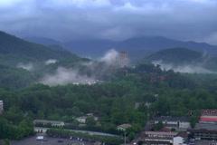Timelapse Gatlinburg, TN.  Clouds over Mtns - stock footage