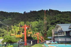 Ski lift in Gatlinburg, Tennessee - stock footage