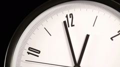 Close up shoot of  ticking clock - stock footage