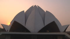 Lotus Temple, located in New Delhi, India.#8 Stock Footage