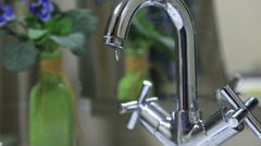 Faucet dripping Stock Footage