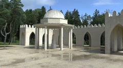 Memorial to Muslim soldiers at Douaumont, Verdun, France. Stock Footage