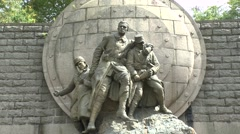The Maginot Memorial (to André Maginot) near Douaumont, Meuse, France. Stock Footage