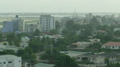 high shot of buildings ands roads in Victoria island lagos - stock footage