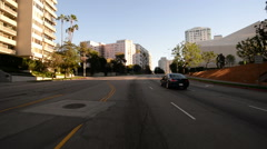 Driving Plates Westwood CAM1 Front 12 Suburbs Wilshire Blvd E Morning - stock footage