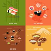 Asian Food Design Concept Stock Illustration