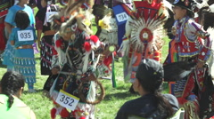 Lakota youngsters pow wow Stock Footage