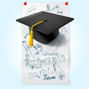 Stock Illustration of Education Sketch With Hat