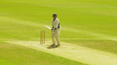Cricket match at High Wycombe cricket club.-A - stock footage