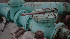 Rusty pipes Stock Footage