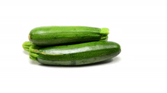 Zucchini rotating on white background Stock Footage