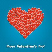 Valentine's Day background - stock illustration