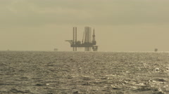 Oil rig Off shore Calabar  - stock footage