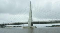 Lekki toll gate victoria island lagos foursquare Stock Footage