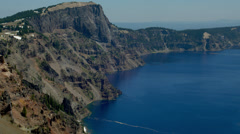 View of Blue Crater Lake in Crater Lake National Park Stock Footage