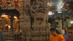 People at Meenakshi Amman Temple in Madurai, Tamil Nadu, India. Stock Footage