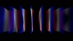 Wonderful french color wave flag animation for sport events, loop hd 1080p Stock Footage