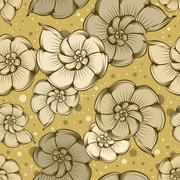 Nautilus pattern pattern Stock Illustration