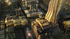 Futuristic city Piirros