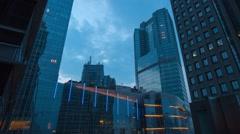 Time lapse Skyline Jakarta Dusk Stock Footage
