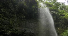 4k, cascada de los tilos, waterfall on la palma, canaries - stock footage