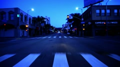 Driving Plates Hollywood Timelapse CAM1 Front 02 Hollywood Blvd East and West - stock footage