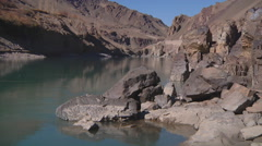 Bay at Indus river in Ladakh, India (Jammu & Kashmir) Stock Footage