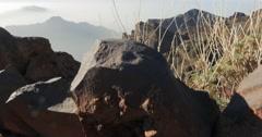 Majestic view at roque de las muchachos, la palma Stock Footage
