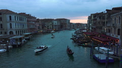 Venice Italy Grand Canal beautiful sunset pt 2 4K 031 Stock Footage