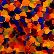 Abstract colorful chaotic geometric background - generative art red blue oran Stock Illustration