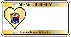new jersey state license plate - stock illustration