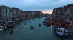 Venice Italy Grand Canal beautiful sunset pt 3 4K 031 Stock Footage