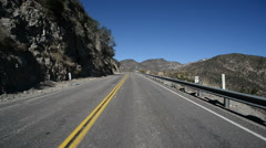 Driving Plates Mountains Timelapse CAM1 Front 01 Angeles Crest Highway Stock Footage