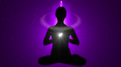Animation Meditation with Flare 07 Stock Footage