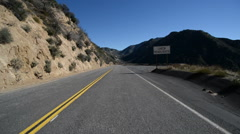 Driving Plates Mountains Timelapse CAM1 Front 02 Angeles Crest Highway Stock Footage