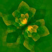 green concentric mandala flower - kaleidoscopic abstract background - geometr - stock illustration