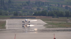 aircraft, B737 takeoff very long shot, long lens,hot summer day heat ripples, #2 - stock footage
