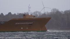 Vessel in Storm Baltic Sea 3 Stock Footage