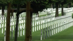 The American Meuse-Argonne Cemetery, Meuse, France. Stock Footage